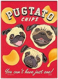 Retro Dogs Refrigerator Magnets - Pugtato Chips (Pug) - Vintage Advertising Art