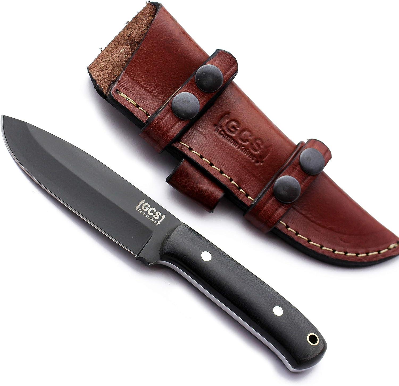 GCS Handmade Topics service on TV D2 steel Hunting Tactical Handle Knife Micarta Knif