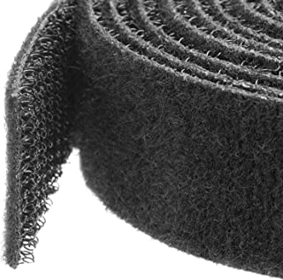 StarTech.com Hook-and-Loop Cable Management Tie - 50 ft. Bulk Roll - Black - Cut-to-Size Cable Wrap/Straps (HKLP50)