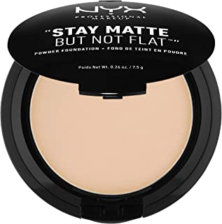 NYX PROFESSIONAL MAKEUP Stay Matte But Not Flat Powder Foundation, Natural