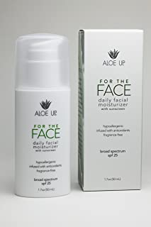 Aloe Up Sun and Skin Care Products For The Face SPF 25 Daily Facial Moisturizer, 1.7 Fluid Ounce