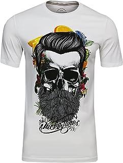 fe931fedf7ec1c JACK & JONES Herren Festival Support T-Shirt l Crew Neck l mit Flower Bart