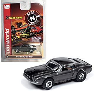 Auto World Xtraction 1967 Shelby GT 350 (Grey) HO Scale Slot Car