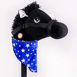 PonyLand Black Stick Horse with Sound Toy