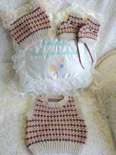 DollieBabies Knitting Pattern 64 - Baby Boy's Round Neck Tank Top