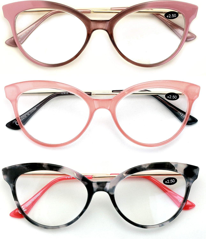 20 Pairs Women Cateye Pointed Tip Reading Glasses   Metal Temple Cat Eye  Readers