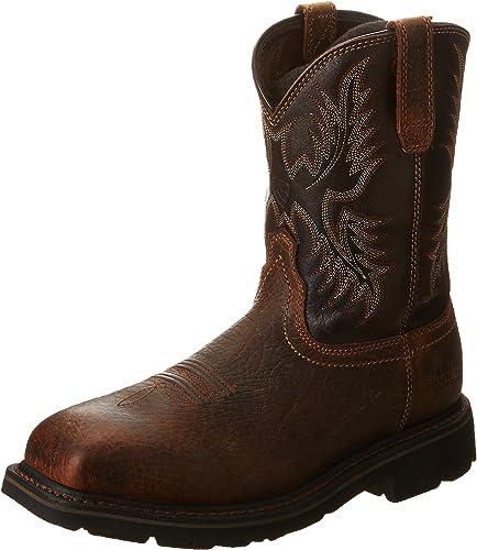 Ariat - Chaussures de de Travail Sierra Steel Toe Western Hommes, 41 M EU, Earth noir Crunch  Découvrez le moins cher
