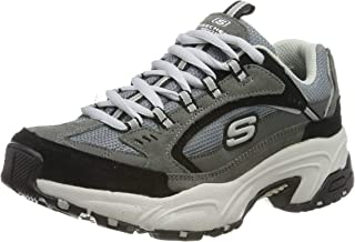 Skechers Stamina Cross Road Womens Fashion Trainers in Charcoal Black - 7 US