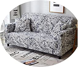 1PC Sofa Cover Tight Wrap Stretch Sofa Slipcovers Elastic Sectional Couch Cover Sofa Covers for Living Room Capa De Sofa Color 4 3-Seater 190-230cm