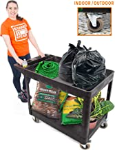 Original Tubstr XL Outdoor Cart with Heavy Duty Wheels | Two Shelf Utility Cart Supports up to 500 lbs! Tub Carts with Deep Shelves and Shock Absorbent Wheels (45.5
