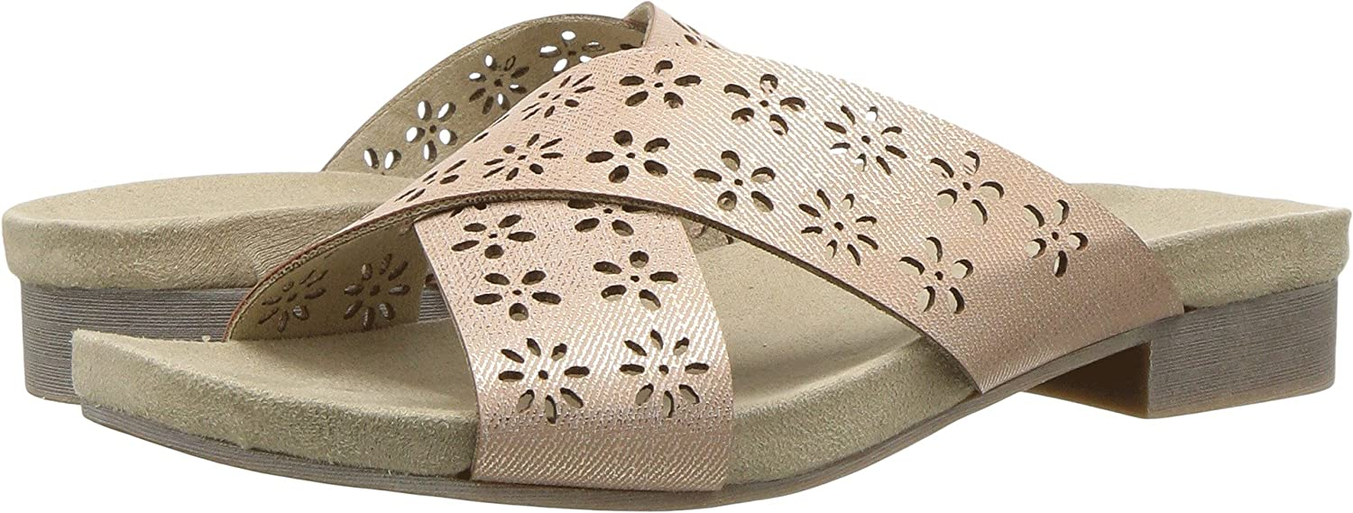 Rialto Womens Alix Padded Insole Slide Sandals