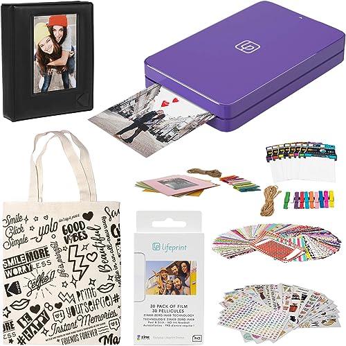 lowest Lifeprint 2x3 Portable Photo and Video outlet sale Printer (Purple) Sticker outlet sale Edition online sale