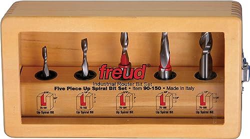 popular Freud new arrival 5 Piece Up 2021 Spiral Bit Set (90-150) sale