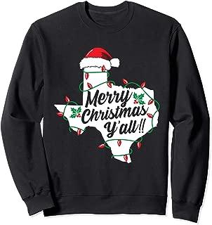 Merry Christmas Y'All Texas State Texan Sweatshirt