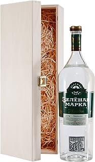 Green Mark Cedar Nut Vodka mit Geschenk-Holzkiste