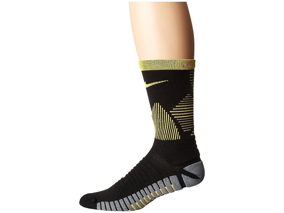 Nike Strike Mercurial Soccer (Black/Laser Orange/Laser Orange) Crew Cut Socks Shoes