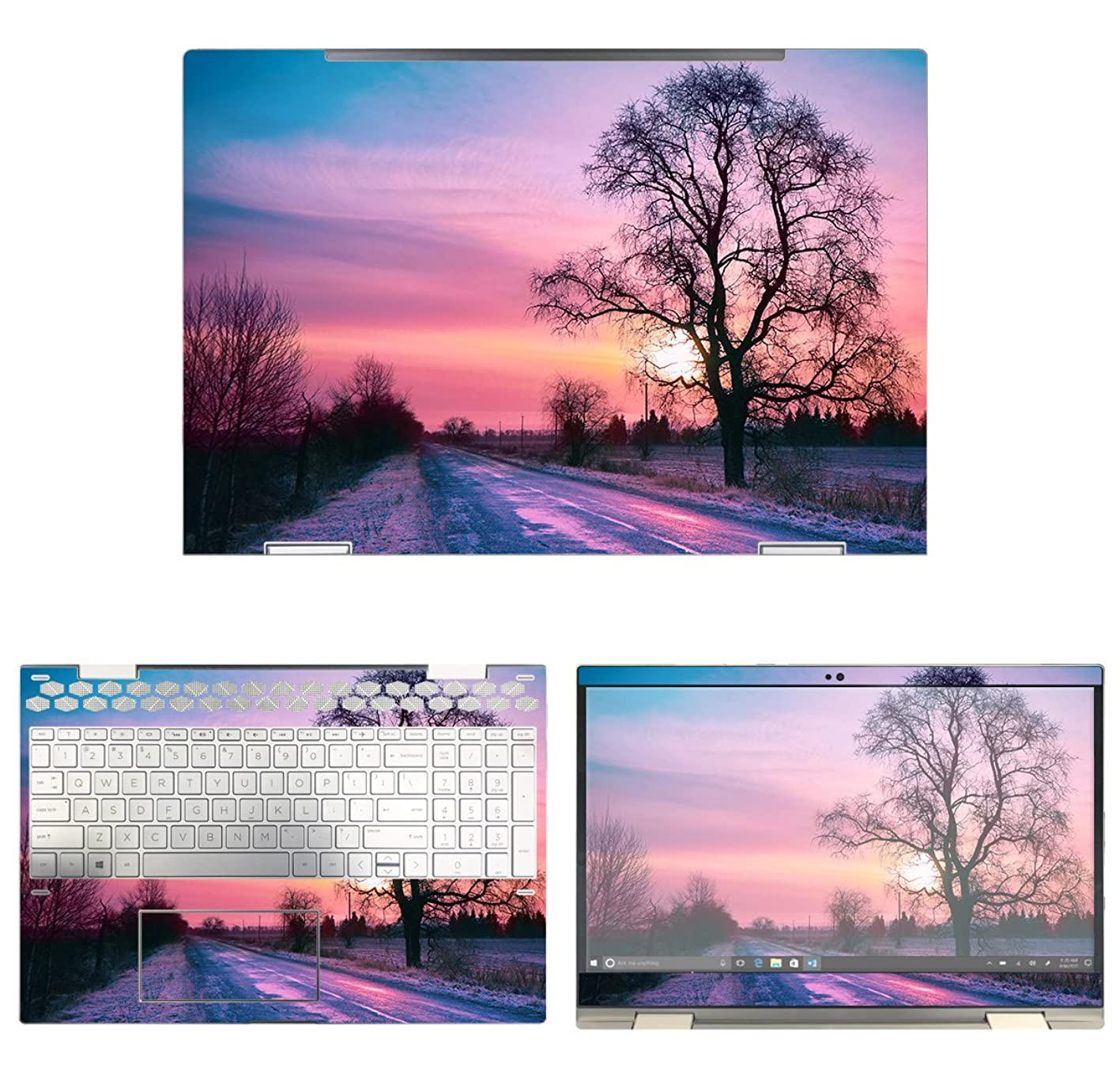 decalrus Protective Decal Sunset Skin Sticker for HP ENVY X360 15M-CN0011DX (15.6