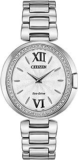 Citizen - Reloj Citizen Eco-Drive Capella Diamond EX1500-52A para mujer
