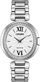 Citizen EX1500-52A Women's Capella Silver Tone Dial Diamond Watch