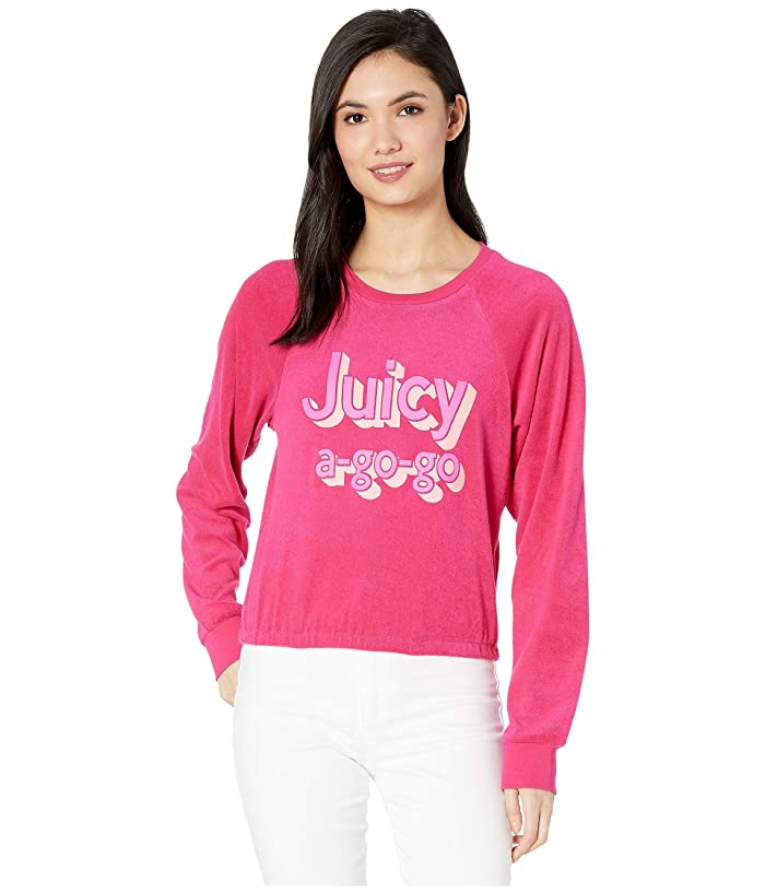 Juicy Couture Juicy A Gogo Microterry Logo Pullover