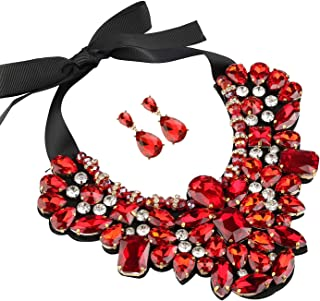Best chunky red statement necklace Reviews