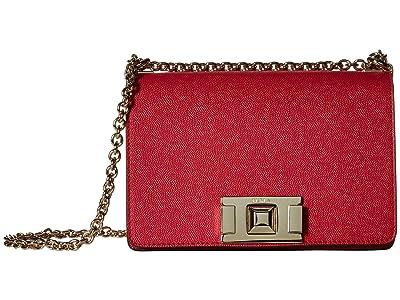 Furla Mimi Mini Crossbody (Ruby) Handbags