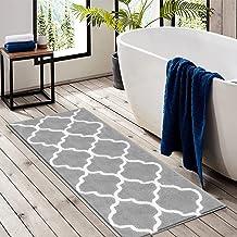 HEBE Large Bath Rug Runner Microfiber Bath Rugs for Bathroom Non Slip Absorbent Bath Mats Floor Carpet Machine Washable Ge...