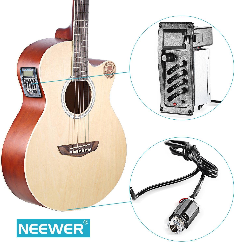 Neewer® 4 de banda de guitarra acústica preamplificador ...
