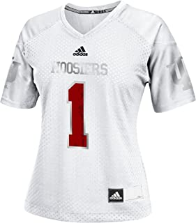 adidas Adult Women NCAA Replica Football Jersey, X-Large, Black, Indiana Hoosiers
