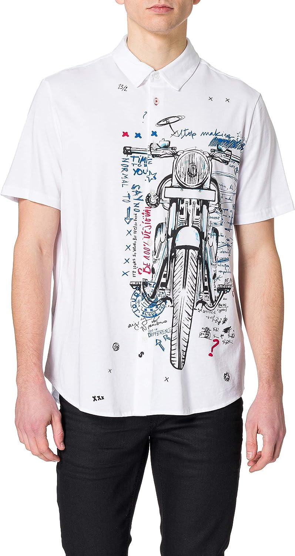 Desigual CAM_acestes Camiseta para Hombre