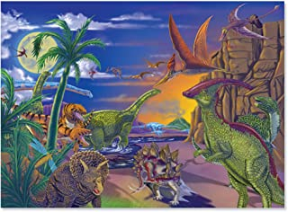 Melissa & Doug Land of Dinosaurs Jigsaw Puzzle (Wipe-Clean Surface, 60 Pieces, 10.9