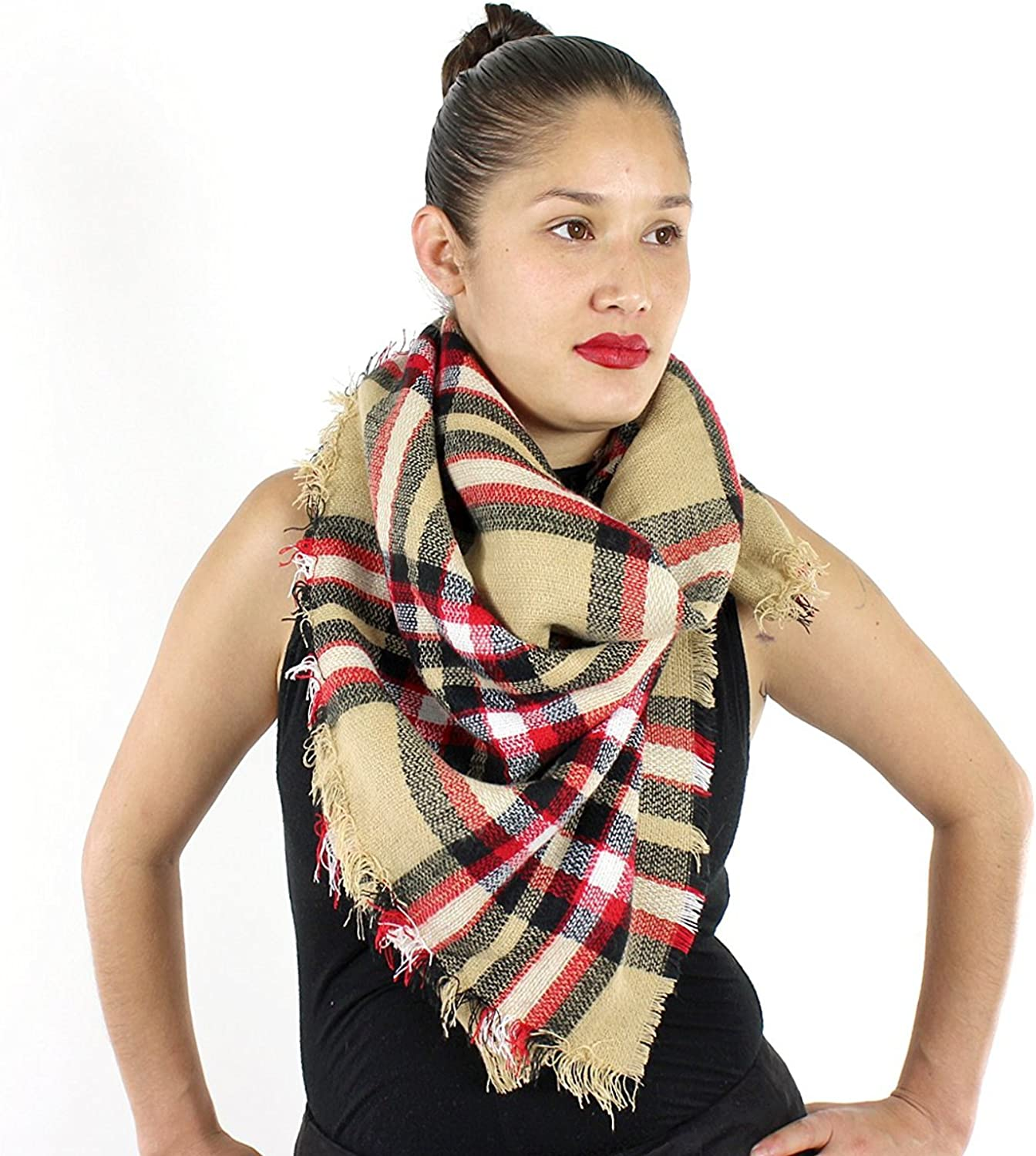 Designer Style Tartan Baltimore Mall Plaid Scarf Blanket Recommended Soft Size Wrap w Large