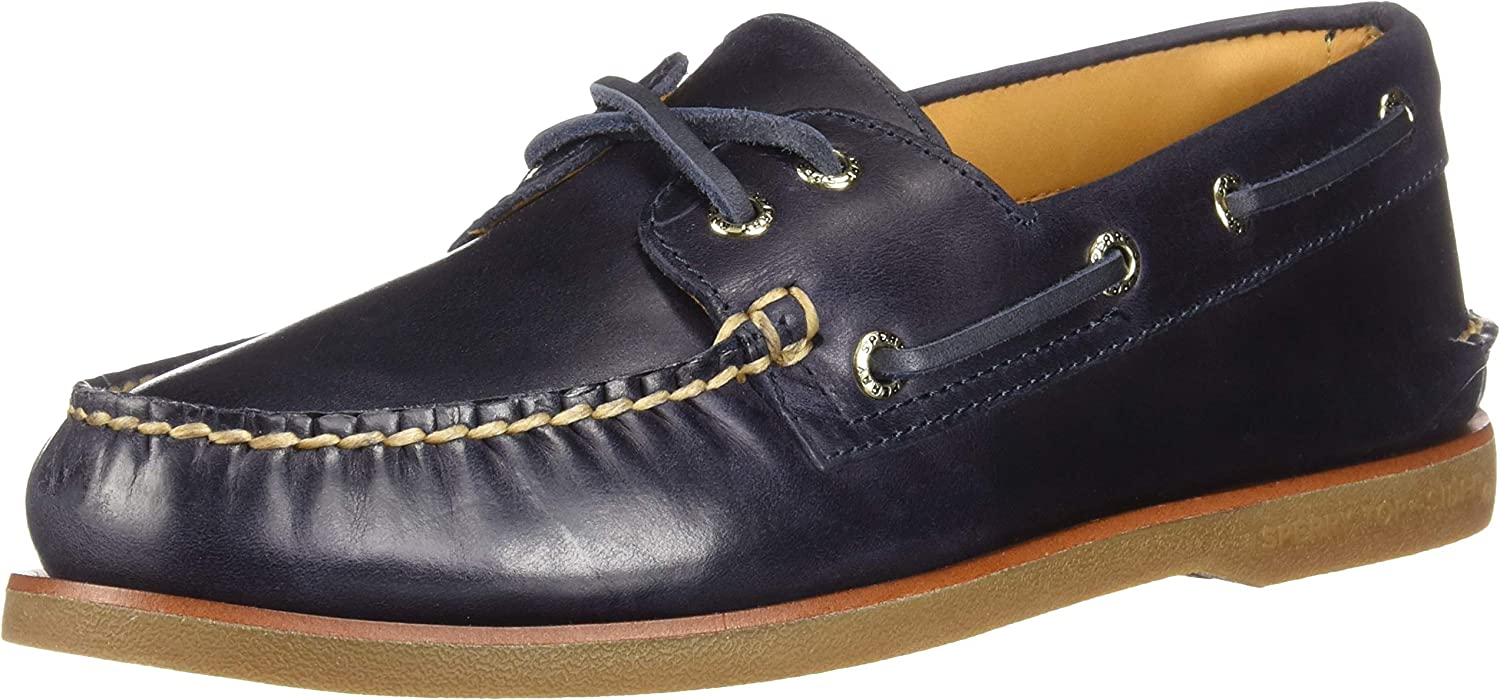 Sperry Mens Authentic Original 2-Eye Orleans Boat shoes Leather Closed Toe Boa.