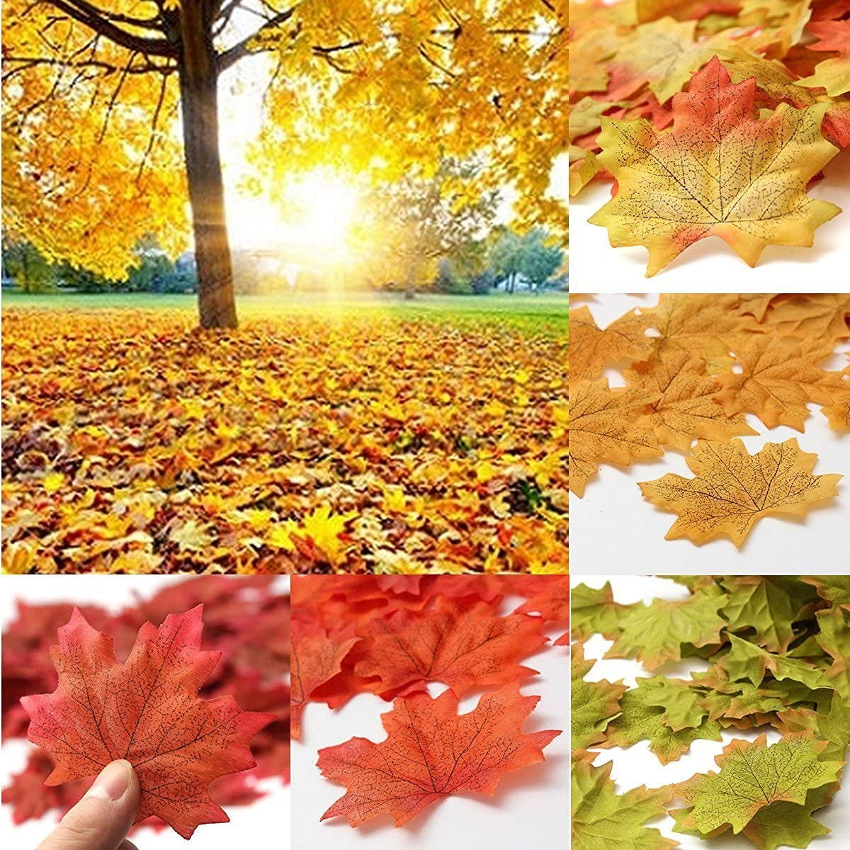 SunAngel Fall Artificial Maple Leaves Colors Large-scale sale for - Assorted Cheap SALE Start Hall