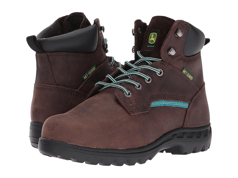 a016f9a85e8 John Deere 6 Internal Metatarsal Lace Up Boot (Gaucho/Turquoise) Women's  Work Boots
