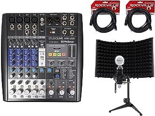 PRESONUS StudioLive AR8 8-Ch USB Live Sound/Recording Mixer+Mic+Shield+Cables