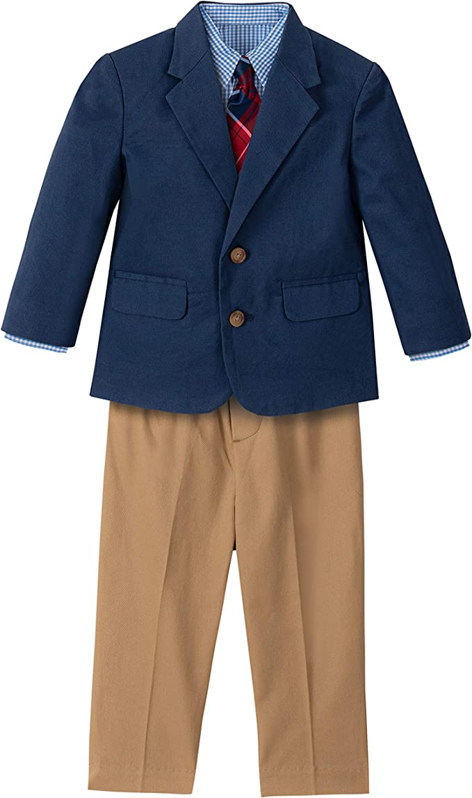 Kids 1950s Clothing & Costumes: Girls, Boys, Toddlers Nautica Baby Boys 4-Piece Suit Set with Dress Shirt Jacket Pants and Tie  AT vintagedancer.com