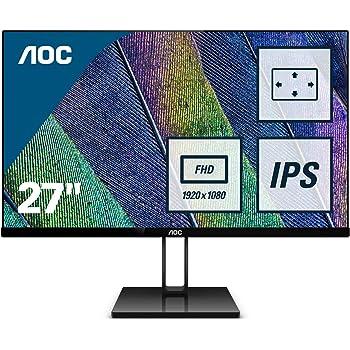 "AOC 27V2Q – Monitor de 27"" Full HD (IPS, Resolución 1920x1080, FreeSync FlickerFree, Lowblue Light, HDMI, Displayport): Aoc: Amazon.es: Informática"