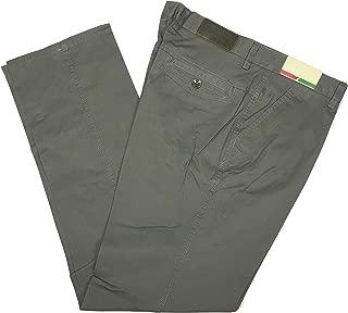 Pantalone Uomo Cotone Classico Vita Alta Gamba Dritta Tasca America Estivo Jeans