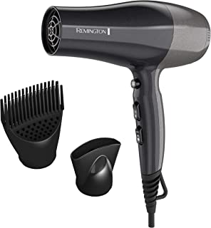Remington Pro Ceramic Touch-Activated Volume Hair Dryer with Volume Boost Attachment, Black, D5700