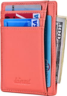 Slim Wallet RFID Front Pocket Minimalist Leather Wallet thin Card Holder