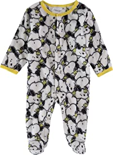 Snoopy Infant Boys Fleece Footies