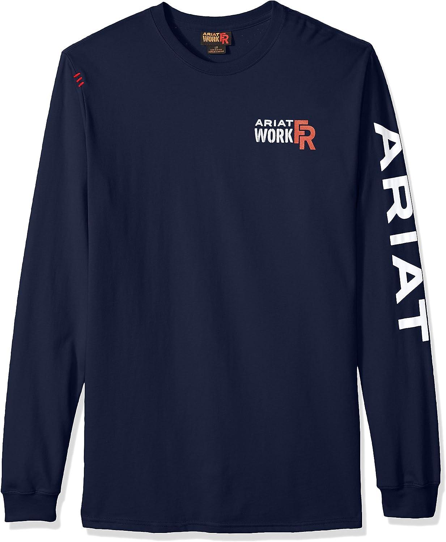 Ariat Men's Big and Tall Flame Resistant Logo CrewShirt
