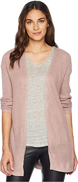 Long Sleeve Drop Shoulder Open Cardigan w/ Pockets