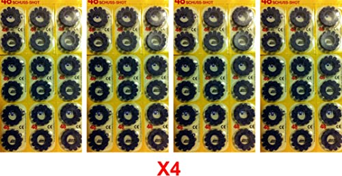 Lot X 4 Pack Caps for Drum of 12 Cap Gun 96 Rings of 12 Caps 2304 Shots in Total Edison Giocattoli European