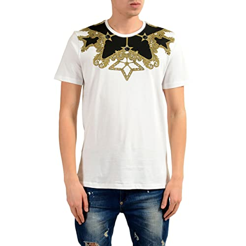aa72f1128e5 Versace Collection Men s White Graphic Print T-Shirt US L IT 52