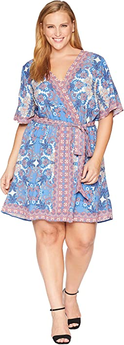 Plus Size Syden Printed Wrap Dress