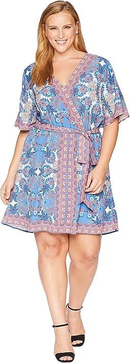 Plus Size Syden Printed Wrap Dress