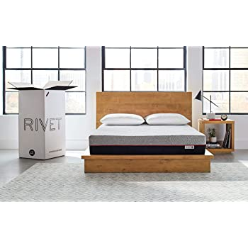 Amazon Brand – Rivet Mattress - Supportive Pressure Relief Memory Foam with Celliant Cover for Restorative Sleep, 10-Inch Height, King