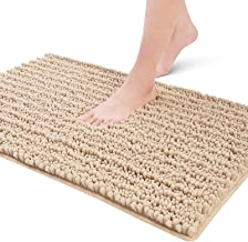 Color&Geometry Original Luxury Chenille Bath Rug Mat, 24x16 Shaggy Rugs, Soft and Absorbent, Machine Wash Dry, Non-Slip Ca...